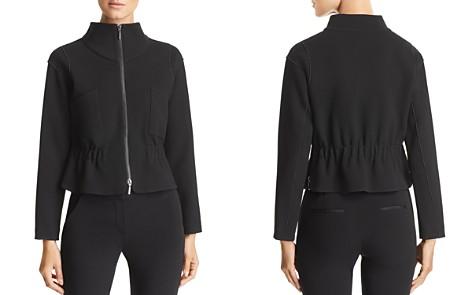 Emporio Armani Cropped Elasticized Zip-Hem Jacket - Bloomingdale's_2