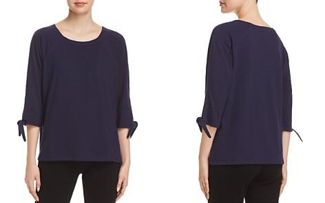 Eileen Fisher Organic Cotton Tie-Sleeve Tee - Bloomingdale's_2