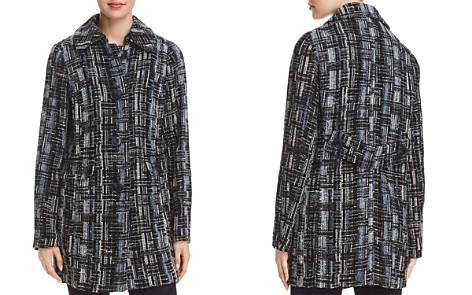 Elie Tahari Rakel Metallic Crosshatch Tweed Coat - Bloomingdale's_2