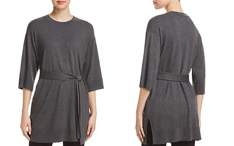 Eileen Fisher Self-Tie Sash Tunic Sweater - Bloomingdale's_2