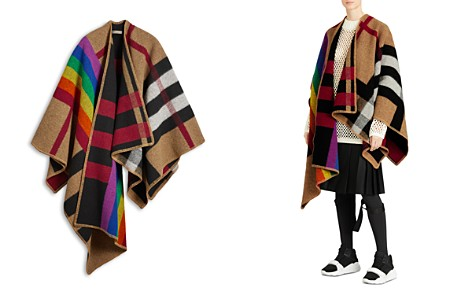 Burberry Rainbow Vintage Check Poncho - Bloomingdale's_2