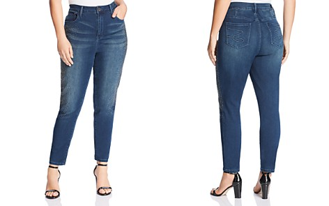 Seven7 Jeans Plus High-Rise Embellished Jeans in Rendition - Bloomingdale's_2