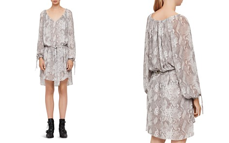 ALLSAINTS Chesca Snake Print Dress - Bloomingdale's_2