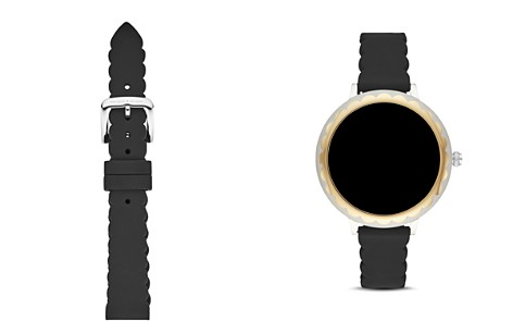 kate spade new york Black Scallop-Edge Apple Watch® Rubber Touchscreen Strap, 16mm - Bloomingdale's_2