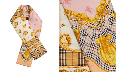 Burberry Archive Border Silk Puffer Scarf - Bloomingdale's_2