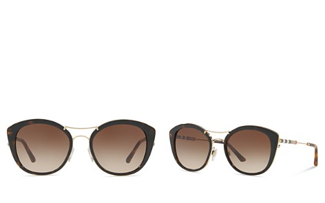Burberry Check Round Sunglasses, 53mm - Bloomingdale's_2