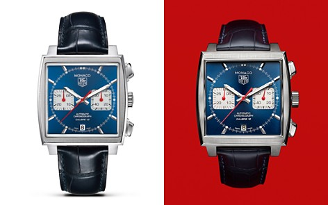 """TAG Heuer """"Monaco"""" Square Watch with Alligator Strap, 39mm - Bloomingdale's_2"""