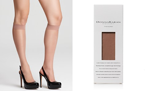 Donna Karan Hosiery Nude Knee Highs - Bloomingdale's_2
