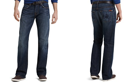 7 For All Mankind Brett A-Pocket Bootcut Fit Jeans in New York Dark - Bloomingdale's_2