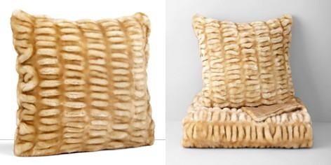 """Hudson Park Sculpted Faux Fur Decorative Pillow, 20"""" x 20"""" - 100% Exclusive - Bloomingdale's_2"""