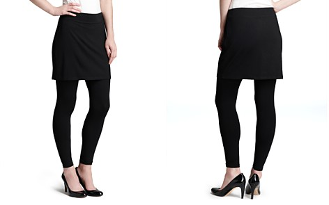 Eileen Fisher Petites Skirted Angle Leggings - Bloomingdale's_2