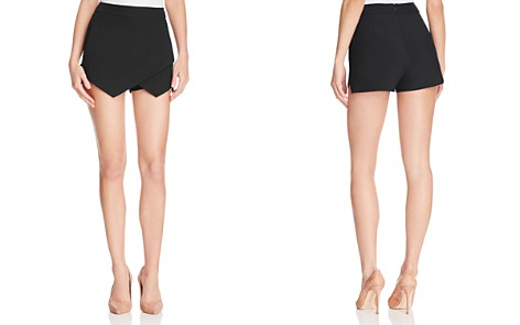 AQUA Faux Wrap Skort - 100% Exclusive - Bloomingdale's_2