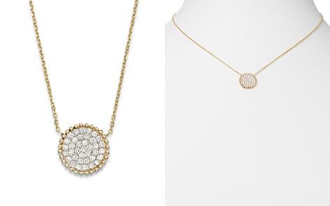 Diamond Pavé Disk Pendant in 14K Yellow Gold, .55 ct. t.w. - 100% Exclusive - Bloomingdale's_2