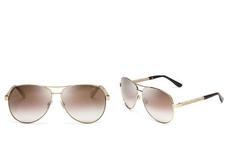 Jimmy Choo Lexie Mirrored Brow Bar Aviator Sunglasses, 61mm - Bloomingdale's_2