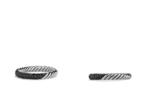 David Yurman Petite Pavé Ring with Black Diamonds - Bloomingdale's_2