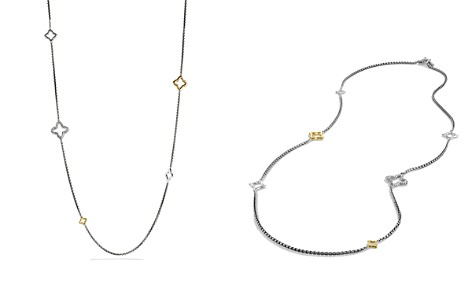David Yurman Quatrefoil Chain Necklace with Gold - Bloomingdale's_2