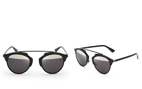 Dior So Real Split Lens Mirrored Sunglasses, 48mm - Bloomingdale's_2