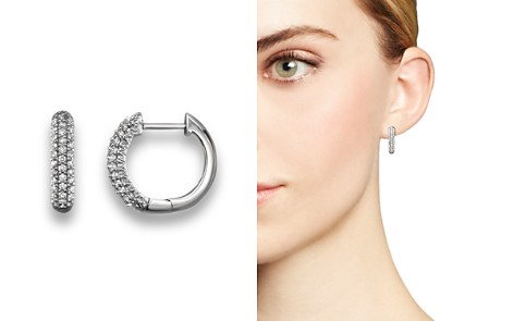 Diamond Hoop Earrings in 14K White Gold, .20 ct. t.w. - Bloomingdale's_2
