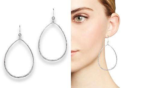 Ippolita Sterling Silver Large Open Teardrop Earrings With Diamonds Bloomingdale S 2