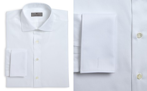Canali Herringbone French Cuff Classic Fit Dress Shirt - Bloomingdale's_2
