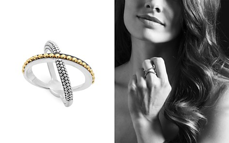 LAGOS 18K Gold and Sterling Silver Enso X Ring - Bloomingdale's_2