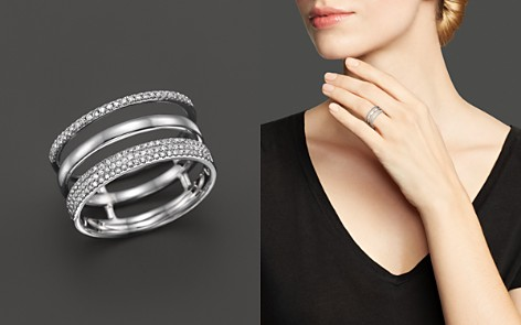 Diamond Triple Row Band Ring in 14K White Gold, .30 ct. t.w. - 100% Exclusive - Bloomingdale's_2