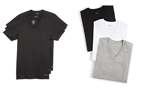 Calvin Klein Cotton Classics V-Neck Tees, Pack of 3 - Bloomingdale's_2