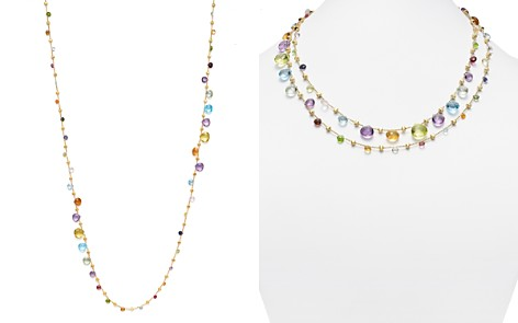 """Marco Bicego 18K Yellow Gold Paradise Graduated Mixed Stone Necklace, 47.25"""" - Bloomingdale's_2"""