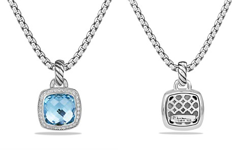 David Yurman Albion Pendant with Blue Topaz and Diamonds - Bloomingdale's_2