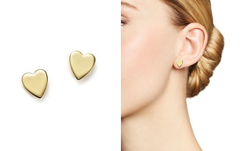 14K Yellow Gold Medium Heart Stud Earrings - 100% Exclusive - Bloomingdale's_2