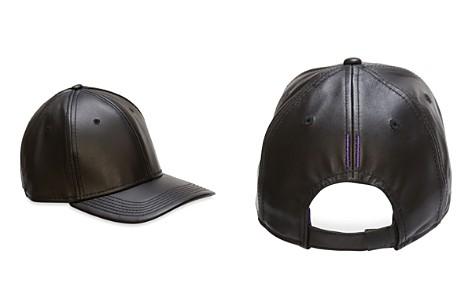 Gents Black Leather Cap - Bloomingdale's_2
