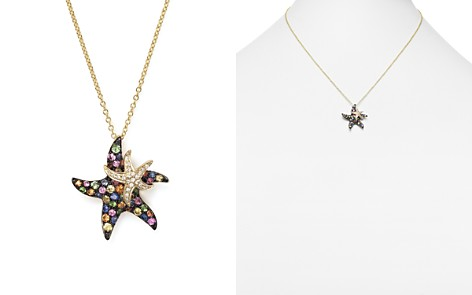"""Multi Sapphire and Diamond Starfish Pendant Necklace in 14K Yellow Gold, 17"""" - Bloomingdale's_2"""
