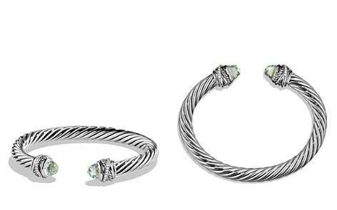 David Yurman Crossover Bracelet with Diamonds and Prasiolite in Silver - Bloomingdale's_2