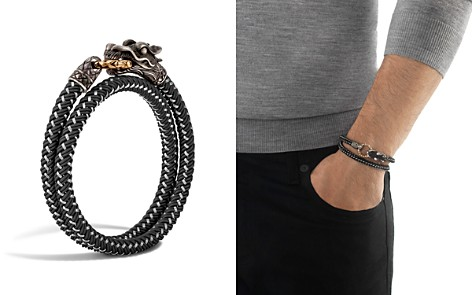 John Hardy Men's Naga Double Wrap Dragon Cord Bracelet - Bloomingdale's_2