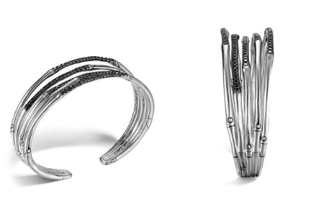John Hardy Bamboo Silver Lava Narrow Flex Cuff with Black Sapphires - Bloomingdale's_2