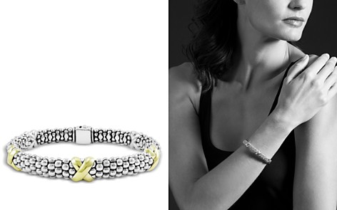 LAGOS 18K Yellow Gold and Sterling Silver Caviar Bracelet - Bloomingdale's_2