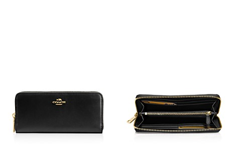 COACH Slim Accordion Zip Wallet in Smooth Leather - Bloomingdale's_2