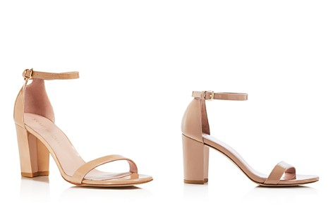 Stuart Weitzman Nearlynude Patent Leather Ankle Strap Sandals - Bloomingdale's_2