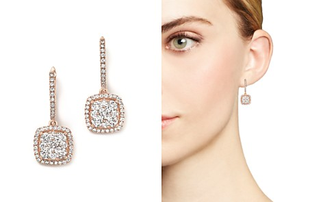 Diamond Pavé Drop Earrings in 14K Rose Gold, 1.35 ct. t.w. - 100% Exclusive - Bloomingdale's_2