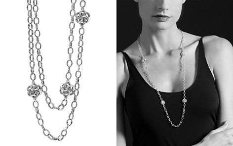 "LAGOS Sterling Silver Love Knot Link Necklace, 34"" - Bloomingdale's_2"