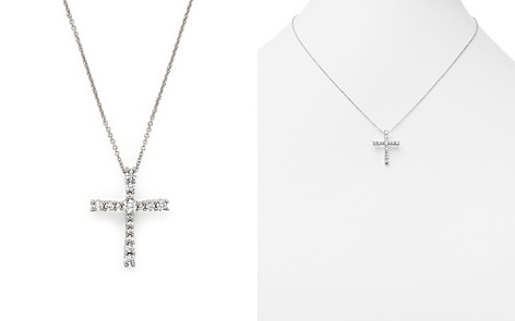 Cross necklace bloomingdales diamond cross pendant necklace in 14k white gold 50 ct tw bloomingdale aloadofball Choice Image