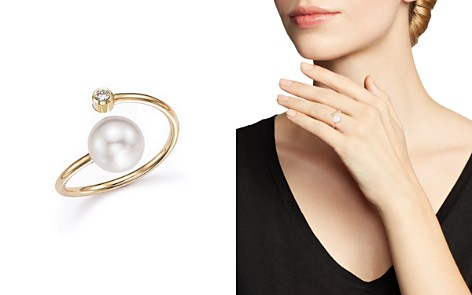 Zoë Chicco 14K Yellow Gold Bypass Ring with Cultured Freshwater Pearls and Diamonds - Bloomingdale's_2