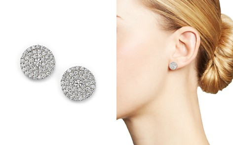 Diamond Disc Stud Earrings in 14K White Gold, 1.0 ct. t.w. - Bloomingdale's_2