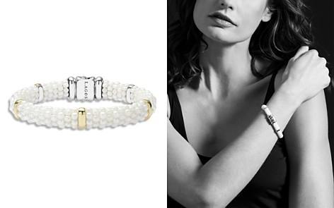 LAGOS White Caviar Ceramic and 18K Gold 5-Station Bracelet - Bloomingdale's_2