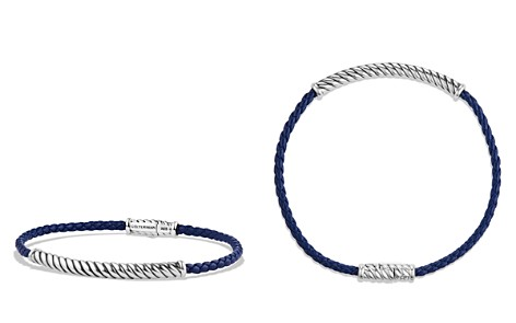 David Yurman Cable Leather Bracelet in Blue - Bloomingdale's_2