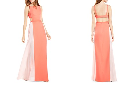 BCBGMAXAZRIA Square Neck Color Block Gown - 100% Exclusive - Bloomingdale's_2