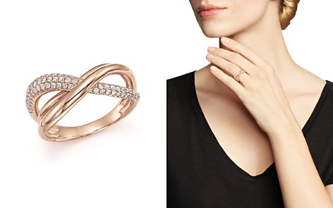 Diamond Pave Crossover Ring in 14K Rose Gold, 0.50 ct. t.w. - 100% Exclusive - Bloomingdale's_2