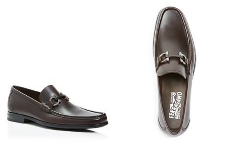 Salvatore Ferragamo Men's Grandioso Calfskin Leather Loafers with Double Gancini Bit - Bloomingdale's_2