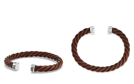 David Yurman Cable Classics Leather Cuff Bracelet in Brown - Bloomingdale's_2