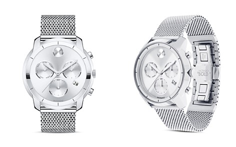 Movado BOLD Stainless Steel Mesh Bracelet Chronograph, 44mm - Bloomingdale's_2